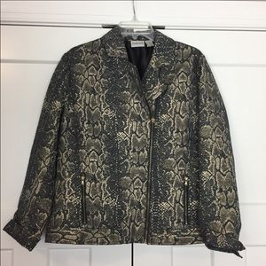 Chico's gold & Gray snakeskin pattern jacket